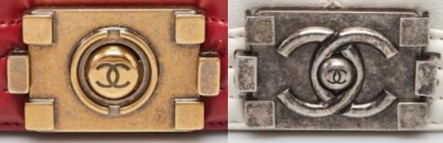 ซ้าย : ตัวล็อครุ่นเดิม ขวา : ตัวล็อคปัจจุบัน