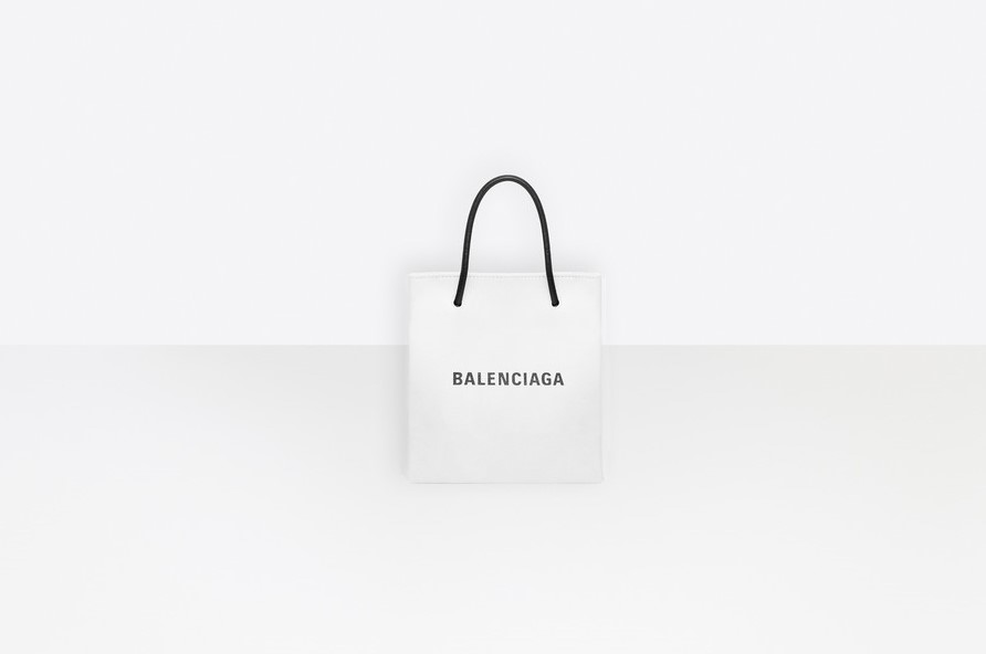 BALENCIAGA Shopping XXS North South Tote Bag