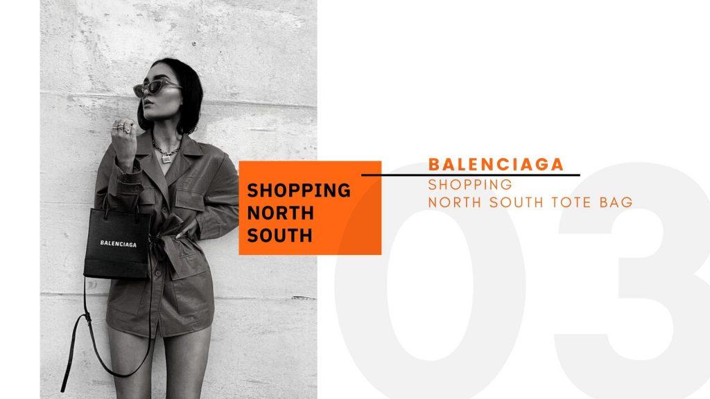BALENCIAGA Shopping North South Tote Bag