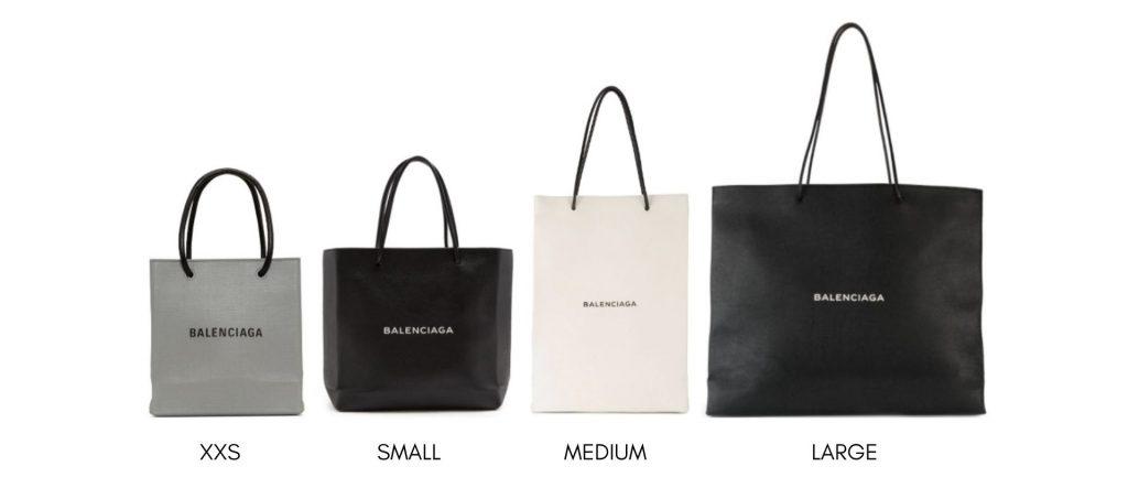 BALENCIAGA Shopping North South Tote Bag Size