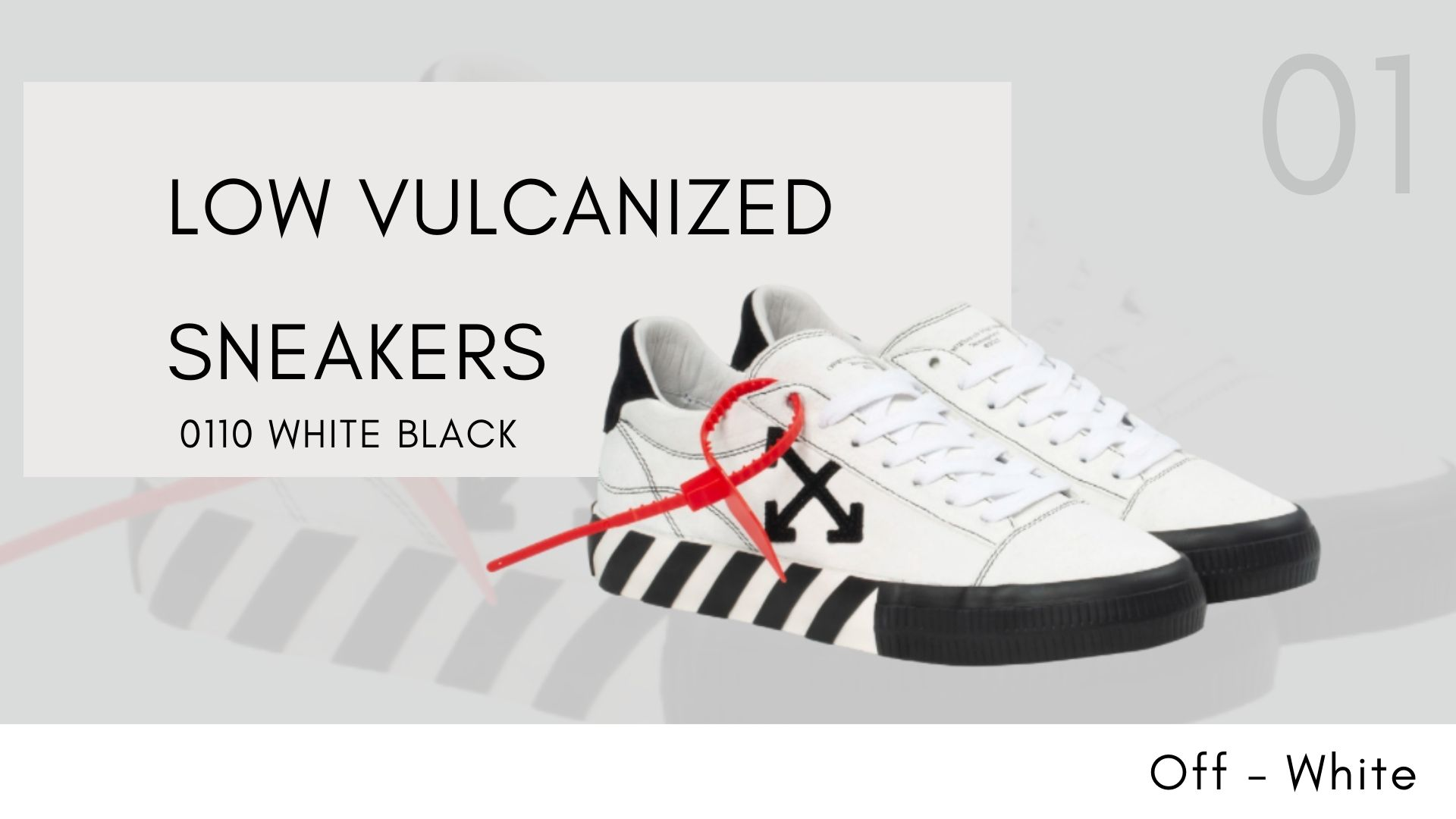Off-White Sneaker รวมฮิตมาแรง LOW VULCANIZED SNEAKERS