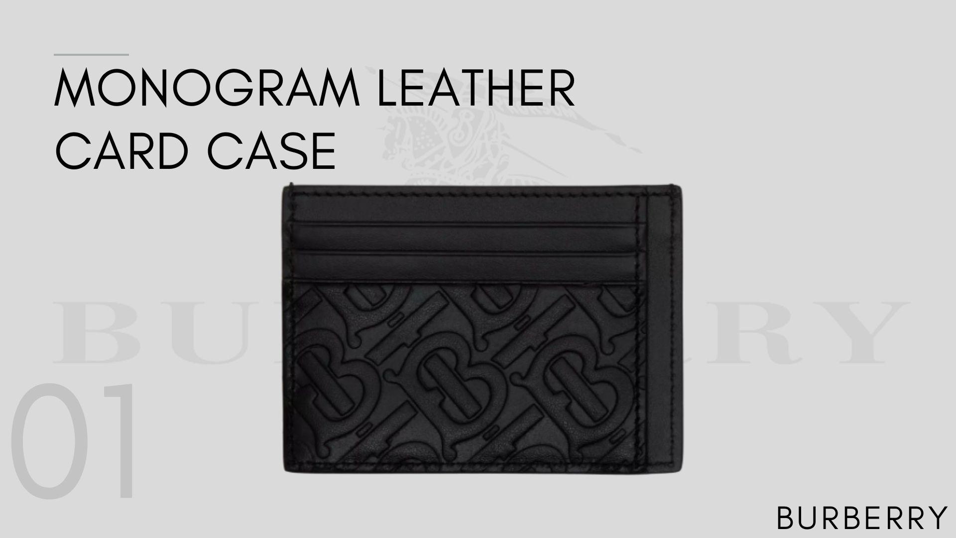 Monogram Leather Card Case 10 กระเป๋าใส่นามบัตรที่ต้องมีไว้ครอบครอง