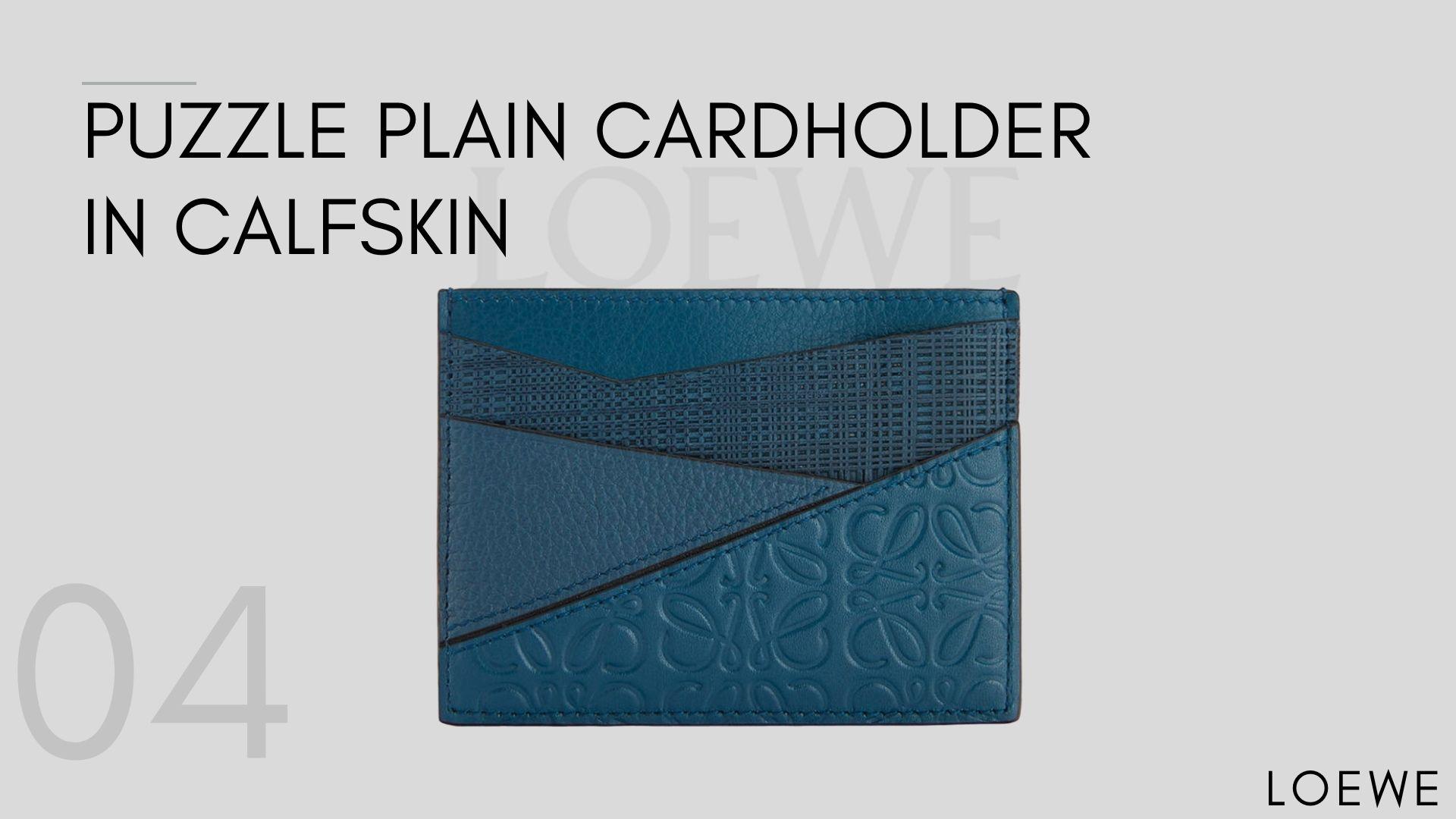Puzzle Plain Cardholder In Calfskin