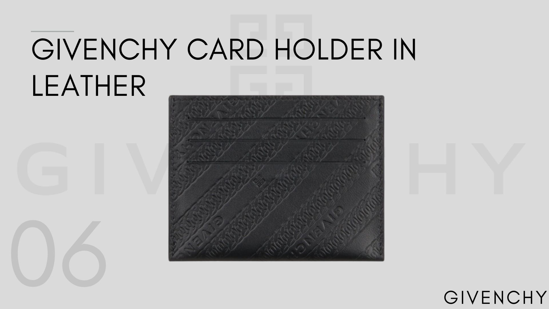 Givenchy CardHolder In Leather