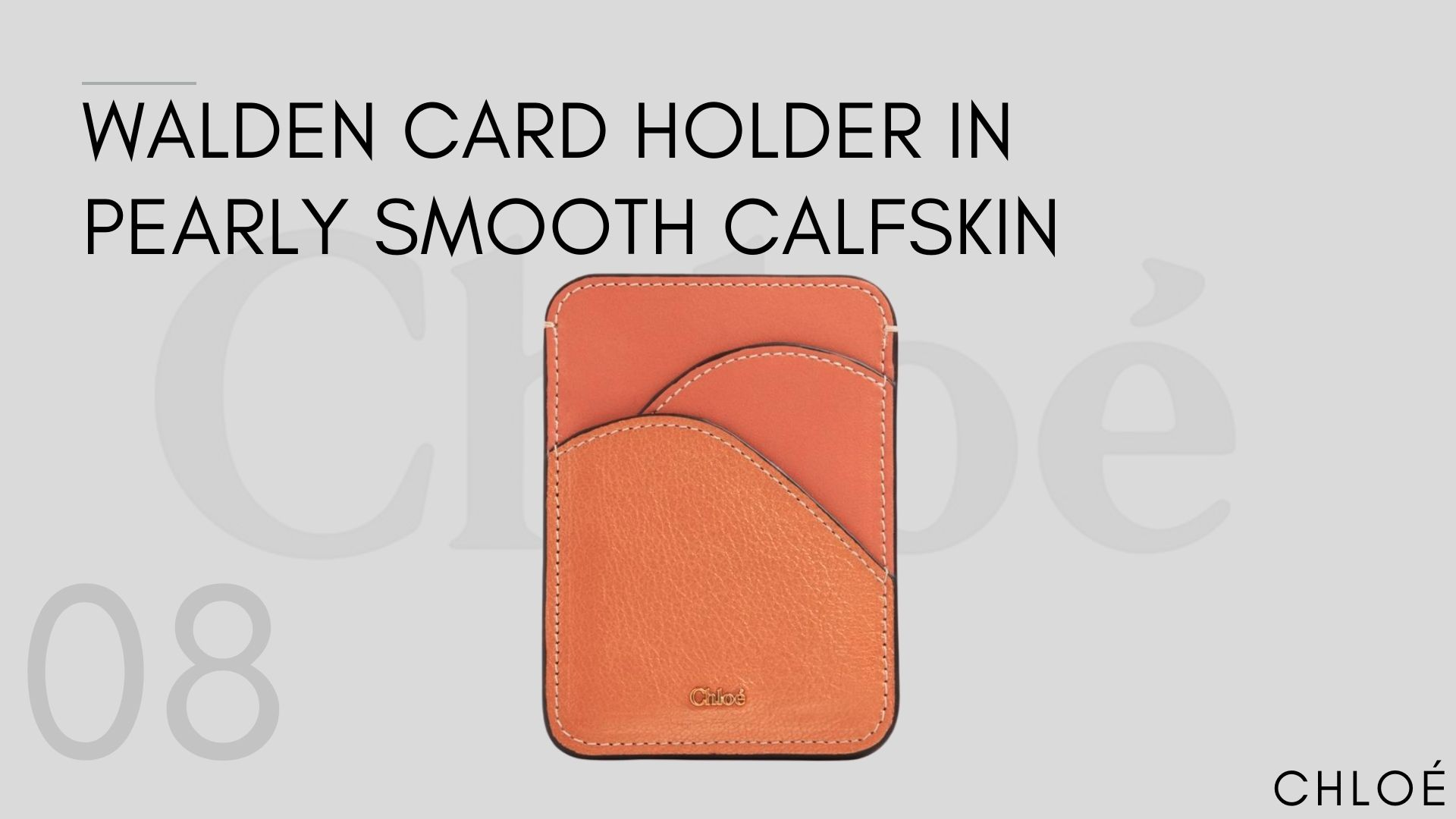 Walden Card Holder In Pearly Smooth Calfskin