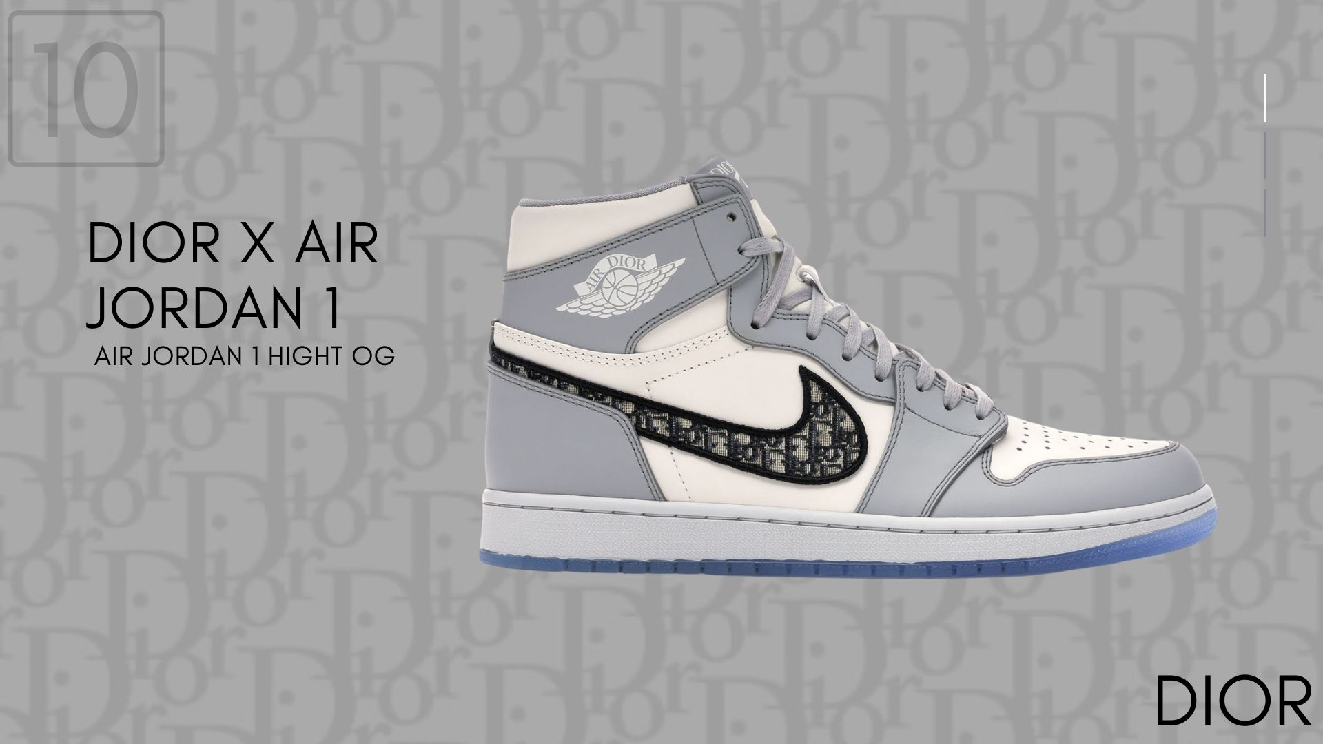 Dior X Air jordan 1 Air Jordan 1 Hight OG